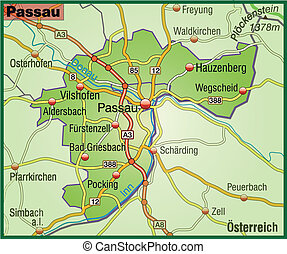 Map of passau