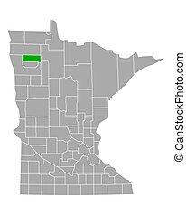 Map of Pennington in Minnesota