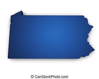 Map Of Pennsylvania State 3d Shape