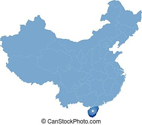 Map of People's Republic of China - Hainan province - Map of...