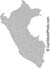 Map of Peru, Callao highlighted