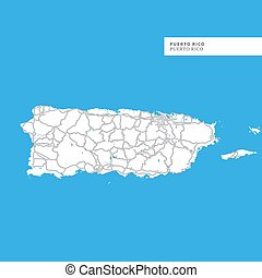 picture about Printable Maps of Puerto Rico known as Puerto rico printable map Vector Clipart Royalty Absolutely free. 4