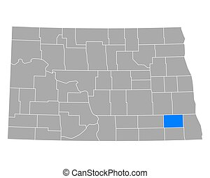 Map of Ransom in North Dakota