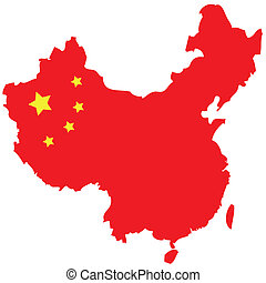 map of red china