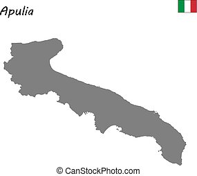 map of region of Italy - High Quality map of Apulia is a...