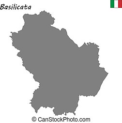 map of region of Italy - High Quality map of Basilicata is a...