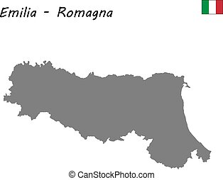 map of region of Italy - High Quality map of Emilia-Romagna...