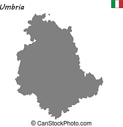 map of region of Italy - High Quality map of Umbria is a...