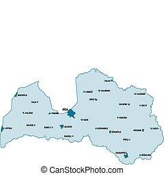 Map of Republic of Latvia - Vector map of Republic of Latvia...