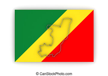 Map of Republic of the Congo.