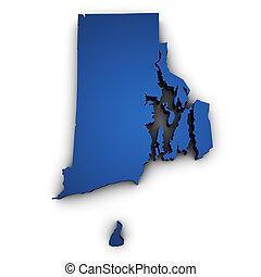 Map Of Rhode Island State 3d Shape