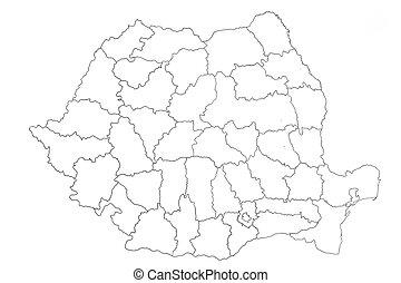 Map of Romania