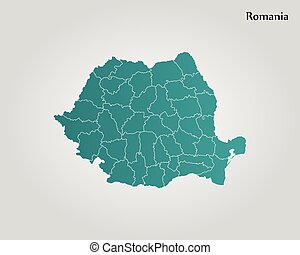 Administrative counties of romania simple flat vector map eps map of romania vector illustration world map gumiabroncs Gallery