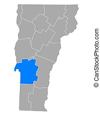 Map of Rutland in Vermont