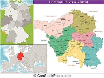 The Saarland is one of the sixteen federal states of Germany