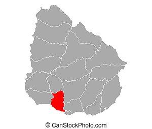 Map of San Jose in Uruguay