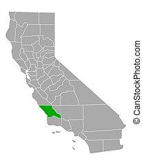 Map of San Luis Obispo in California