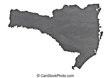 Map of Santa Catarina on dark slate