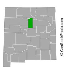 Map of Santa Fe in New Mexico