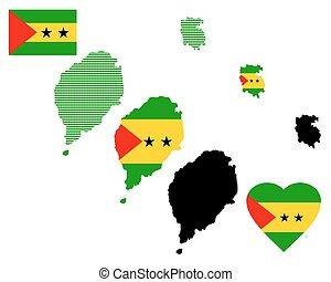 Map of Sao Tome and Principe