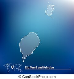 Map of Sao Tome and Principe - vector illustration