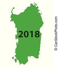 Map of Sardinia 2018