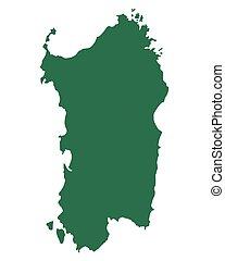 Map of Sardinia