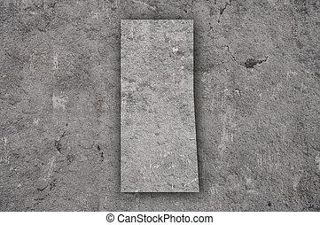 Map of Saskatchewan on weathered concrete