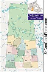 Map of Saskatchewan - Saskatchewan is a prairie and boreal ...