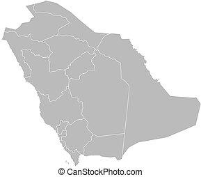 Map of Saudi Arabia - Political map of Saudi Arabia with the...