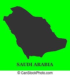 Map of Saudi Arabia vector