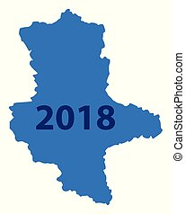 Map of Saxony-Anhalt 2018