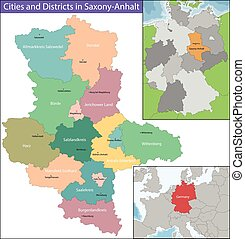 Map of Saxony-Anhalt - Saxony-Anhalt is a landlocked federal...
