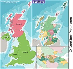 Map of Scotland - Scotland is a country that is part of the...