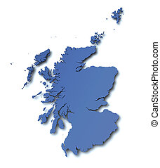 Map of Scotland - UK
