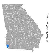 Map of Seminole in Georgia