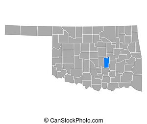 Map of Seminole in Oklahoma
