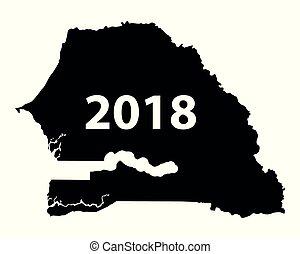 Map of Senegal 2018