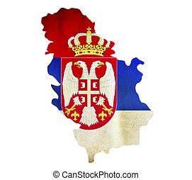Map of Serbia isolated