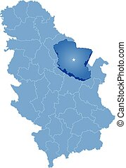 Map of Serbia, Subdivision Branicevo District