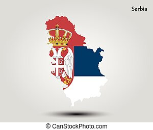 Map of Serbia. Vector illustration. World map