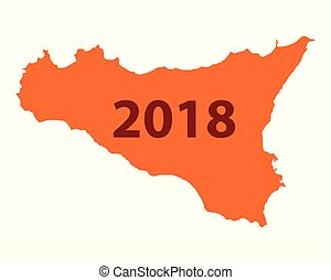 Map of Sicily 2018