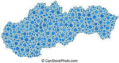 Map of Slovakia - Europe -