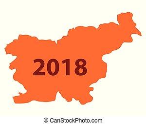 Map of Slovenia 2018