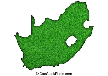 Map of South Africa on green felt
