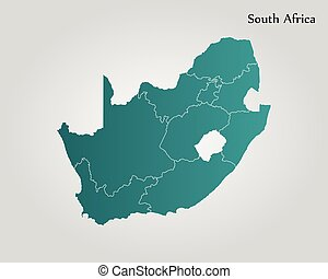 South Africa Outline Map Isolated South Africa Outline Map - Blank map of south africa