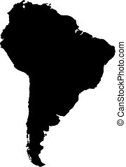 Map of South America.