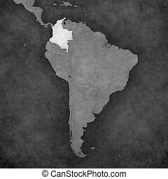 Map of South America - Colombia