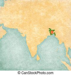 Map of South Asia - Bangladesh
