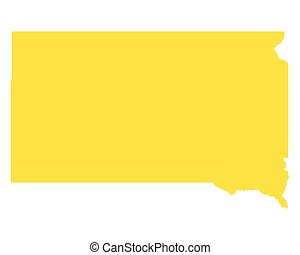 Map of South Dakota